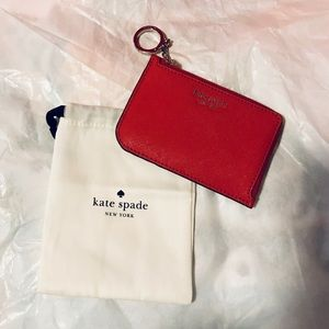 Kate Spade Hot Chili (Red) Small Zip Card Wristlet